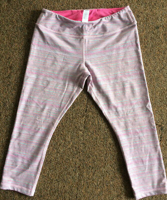 IVIVVA By Lululemon Girls Multi-color Cropped Leggings Size 14 Striped