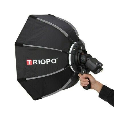 Triopo 65cm Octagon Speedlite Softbox for Godox Neewer Speedlight Flash Bracket