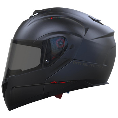 MT Atom SV Solid Matt Black Helmet Medium