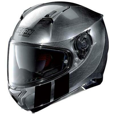 Nolan N87 Martz N-Com Helmet Scratched Chrome Medium