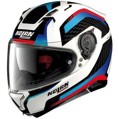 Nolan N87 Arkad N-Com Helmet Metallic White Small