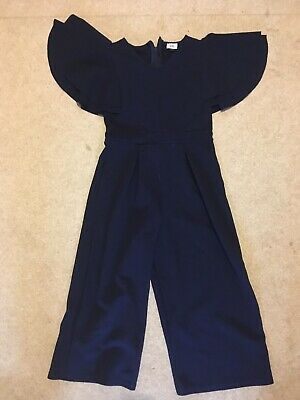 Girls River Island Navy Jumpsuit 7-8yrs