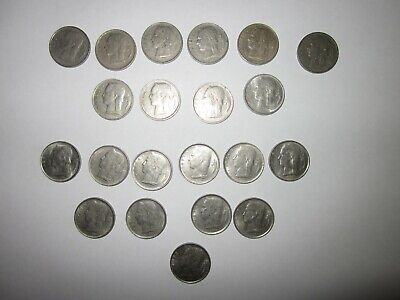 Belguim  21 coin set 1 Franc, all different years.