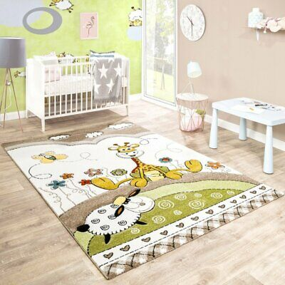 KIDS RUG LITTLE CARPET CHILDRENS RUGS COLLECTION BIRD THEO COLOURFUL PLAY MAT