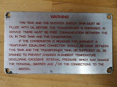 Original Vintage Aluminium Warning Sign