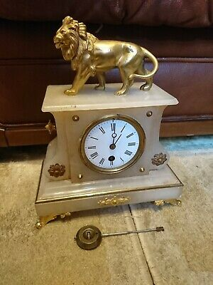 An Ornate Antique French Mantel Clock For Restoration