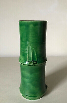 Porzellan China Wand-Vase in Bambus-Form China um 1920