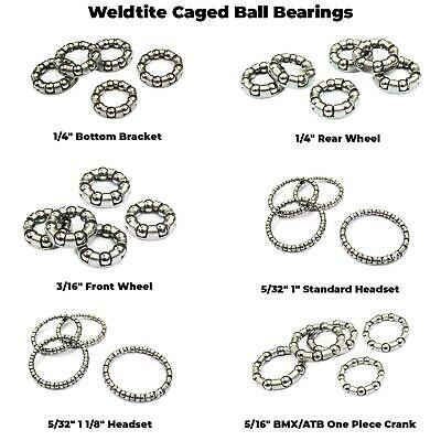 """Weldtite 3//16/"""" Front Hub Cage Cycle Bike Caged Bearings for Front Hub 61663"""
