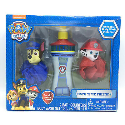 Nickelodeon Paw Patrol Bath Time Friends - Refillable Body Wash Dispenser NEW