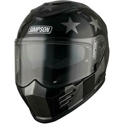 Simpson Venom Subdued Helmet Black/Silver X-Large