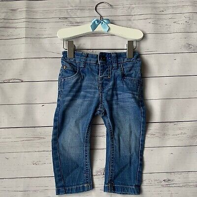 Baby Boys 3-6 Months - Jeans - NEXT Mid Blue Adjustable Waist Skinny Stretch