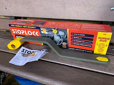 Stoplock 4x4 Airbag High Visibility Security Steering Wheel Lock Anti Theft NEW