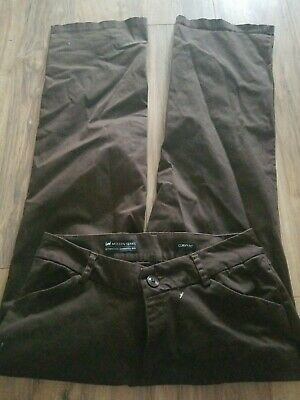 Lee Modern Series Curvy Fit Brown Pants Size 14 Excellent Condition