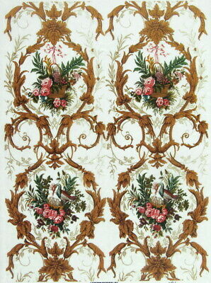 Rice Paper for Decoupage Scrapbooking Sheet Craft Rococo flowers