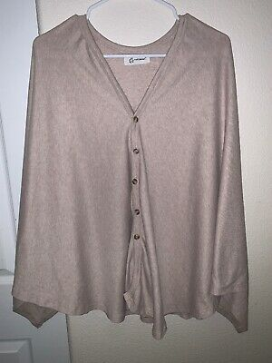 Yuezimama Nursing Cover Khaki Button Up Pre-owned