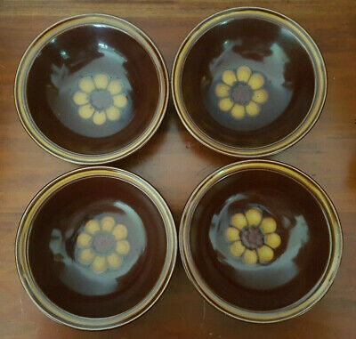 Set of 4 Casual Ceram Stoneware Japan Electra Olympia 9507 Cereal Bowls EUC