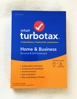 Intuit TurboTax Home & Business 2019 CD - New and Sealed