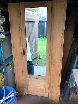 Antique, Stripped Oak Wardrobe