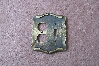 Amerock Carriage House Combo Switch Plate/Outlet Cover; Antique English / Gold