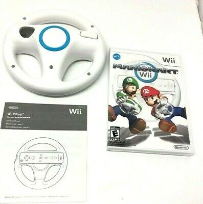 Mario Kart Nintendo Wii 2008 w/Steering Wheel Complete Manual  --New Game