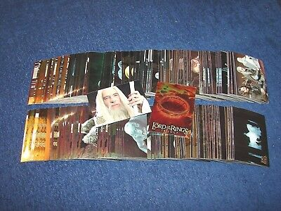 2004 Topps Chrome Lord Of The Rings Lotr Trilogy Lot Of 210 Cards (18-41)