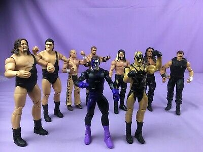 WWE WWF WCW Tag Team Wrestling Action Figures Mattel