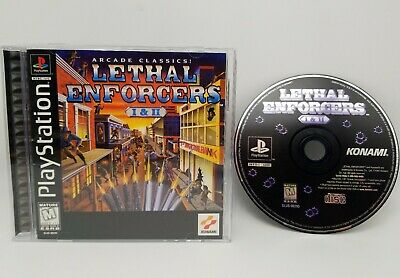 Lethal Enforcers I & II (Sony PlayStation 1, PS1, 1997) Tested. USA Seller