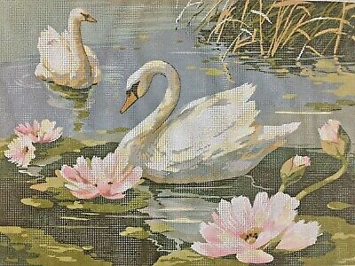 """""""Les Cygnes""""   ❤️    SEG Collection de Paris  Tapestry Canvas  Made In France"""