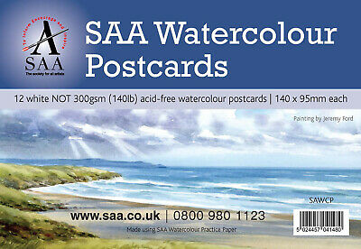 SAA Watercolour Postcards - Pack of 12 (140mm x 95mm)