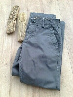 GAP Boys Chino Slate Grey Trousers Age 7 - cotton - holiday weekend soft