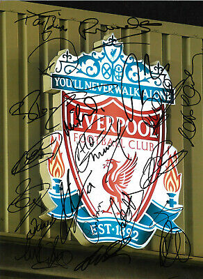Liverpool Legends 16 x 12 inch hand multi signed authentic football photo SS270E