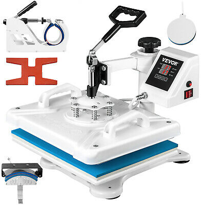 5 in 1 Heat Press Machine Transfer Sublimation for T-Shirt Hat Cup Shoes
