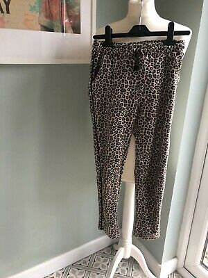 Zara Girls Zids Leopard Print Trousers Joggers Age 10 Really Cool!