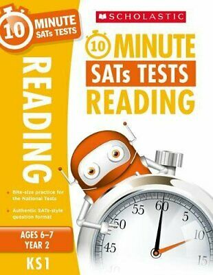 10-Minute SATs Tests for Reading - Year 2 New Paperback Book