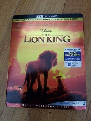 The Lion King 2019 4K / 4K DISC & CASE ONLY, NO BLU RAY OR D/C!! / LIKE NEW