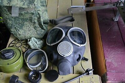 New Russian  Army Gas Mask PMK-3  Full Set with molle pouch