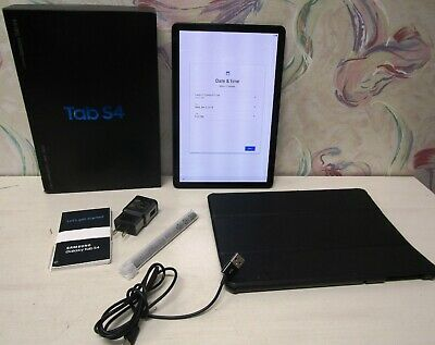 Samsung Galaxy Tab S4 SM-T837A 64GB  AT&T Tablet in Black WiFi & Cellular + Case