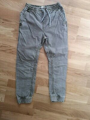 Gorgeous Khaki Heavy Cotton Trousers with Tie Waist NEXT age 10 NEW