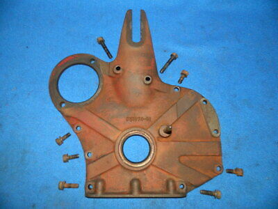 1948 Farmall Cub Engine Crankcase Front Cover with Bolts & Timing Pointer