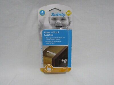 Safety 1st Easy To Grip Press 'n Pivot Latch, White 4 Count (3C1)