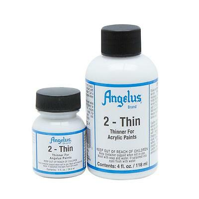 Angelus Brand 2-Thin acrylic leather paint thinner 1 oz.