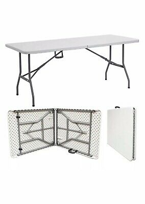 6Ft Camping Catering Heavy Duty Folding Table Trestle Picnic Bbq Party