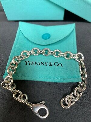 AUTHENTIC TIFFANY & Co. STERLING SILVER CHARM BRACELET 7.5""