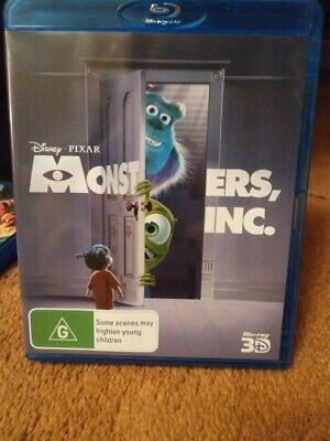 Monsters Inc .3D Blu Ray No 2D    Region B New/Unsealed Free Postage
