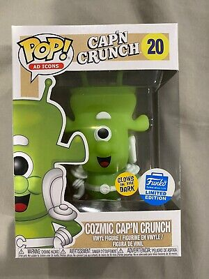 Funko Pop Ad Icons Glow In The Dark Cozmic Cap'n Crunch Funko Shop Exclusive #20