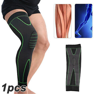 Long Knee Sleeve Compression Brace Support For Sport Joint Pain Arthritis Relief