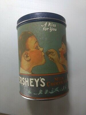 """Hershey's Kisses """"A Kiss for You"""" 1980 Tin -- MINT"""