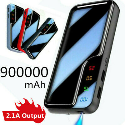 Hot UK 900000mah Portable Power Bank Dual USB LED Battery Charger for Cell Phone