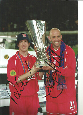 Robbie Fowler Gary Mcallister Liverpool signed authentic football photo SS296A