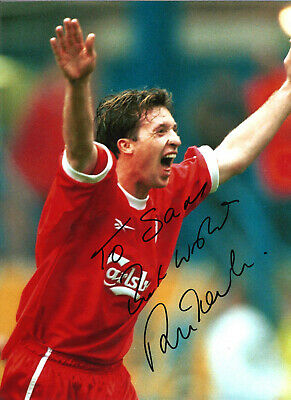 Robbie Fowler Liverpool 16 x 12 inch hand signed authentic football photo SS294G